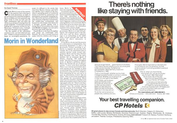 Article Preview: Morin in Wonderland, November 1979 | Maclean's