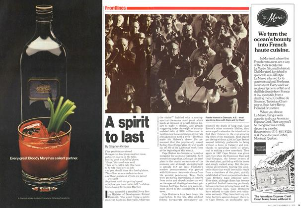 Article Preview: A spirit to last, November 1979 | Maclean's