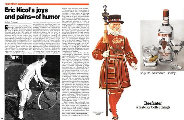 Article Preview: Eric Nicol's joys and pains-of humor, November 1979 | Maclean's