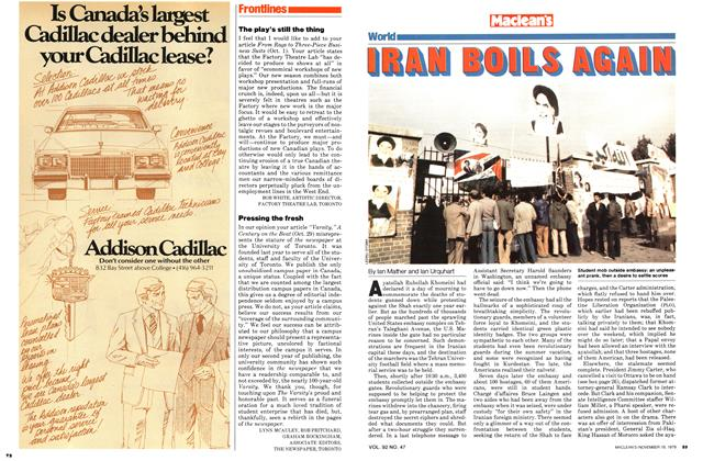 Article Preview: IRAN BOILS AGAIN, November 1979 | Maclean's