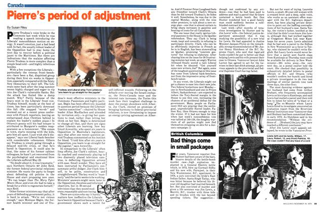 Article Preview: Pierre's period of adjustment, November 1979 | Maclean's