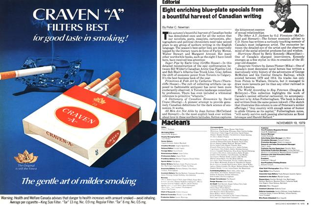 Article Preview: Eight enriching blue-plate specials from a bountiful harvest of Canadian writing, November 1979 | Maclean's