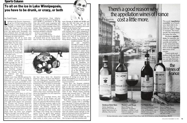 Article Preview: To sit on the ice in Lake Winnipegosis, you have to be drunk, or crazy, or both, November 1979 | Maclean's