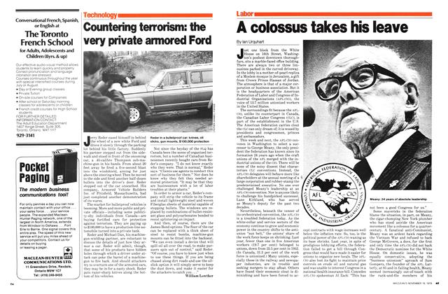Article Preview: A colossus takes his leave, November 1979 | Maclean's