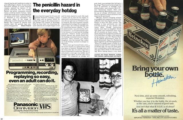 Article Preview: The penicillin hazard in the everyday hotdog, November 1979 | Maclean's