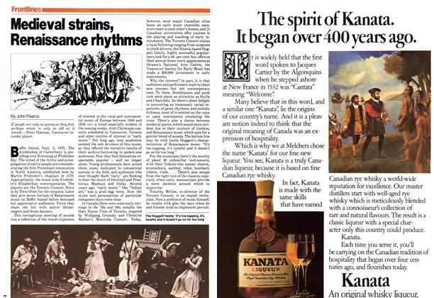 Article Preview: Medieval strains, Renaissance rhythms, November 1979 | Maclean's