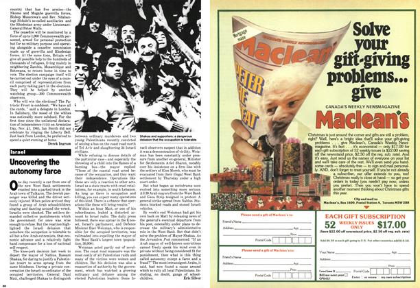 Article Preview: Uncovering the autonomy farce, November 1979 | Maclean's