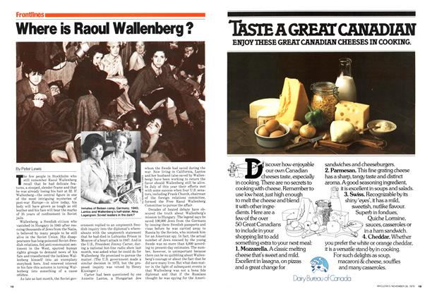 Article Preview: Where is Raoul Wallenberg?, November 1979 | Maclean's