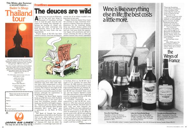 Article Preview: The deuces are wild, December 1979 | Maclean's