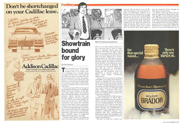 Article Preview: Showtrain bound for glory, December 1979 | Maclean's