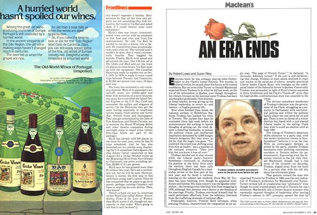 Article Preview: AN ERA ENDS, December 1979 | Maclean's