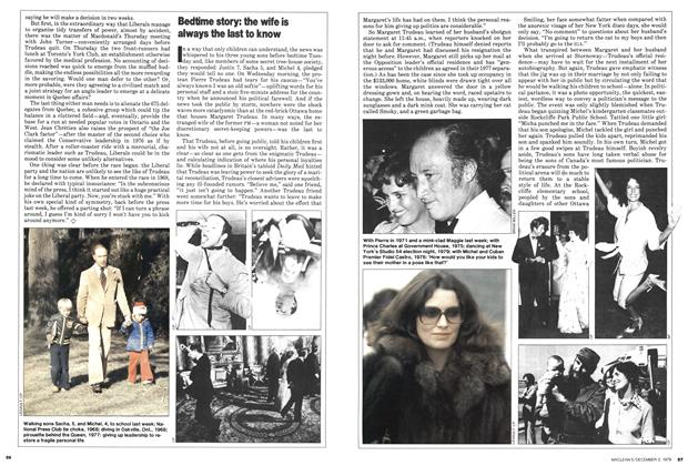 Article Preview: Bedtime story: the wife is always the last to know, December 1979 | Maclean's