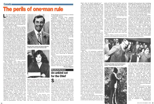 Article Preview: An unkind cut for the Chief, December 1979 | Maclean's