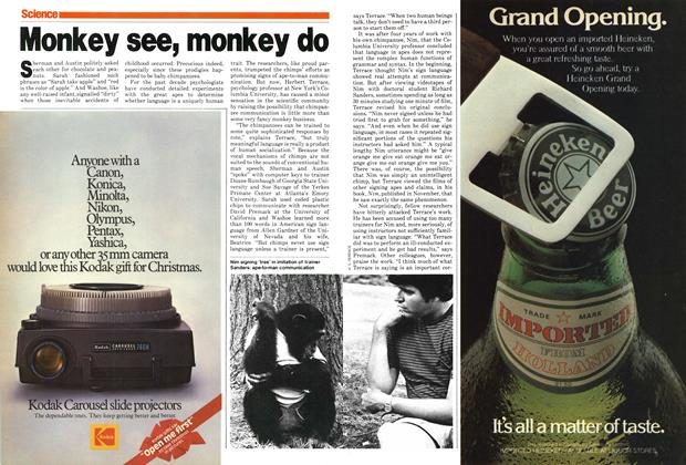 Article Preview: Monkey see, monkey do, December 1979 | Maclean's
