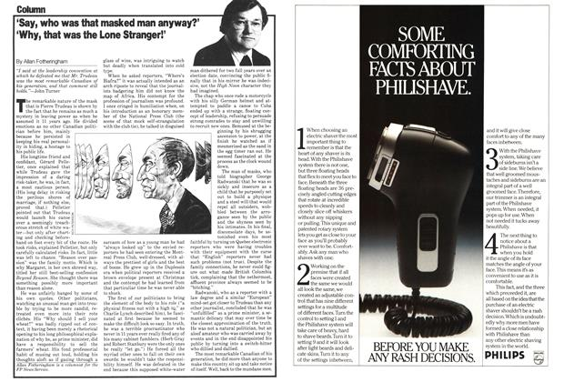 Article Preview: 'Say, who was that masked man anyway?' 'Why, that was the Lone Stranger!', December 1979   Maclean's