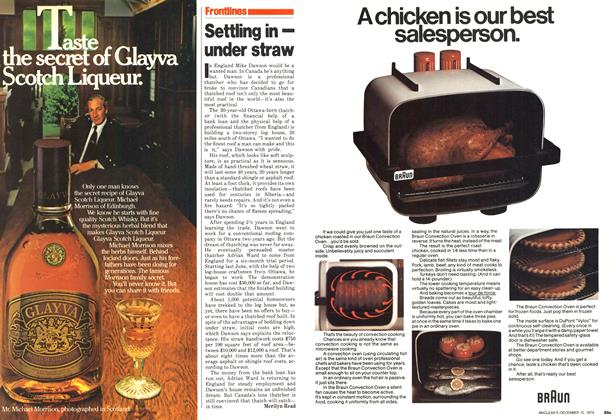 Article Preview: Settling in — under straw, December 1979 | Maclean's
