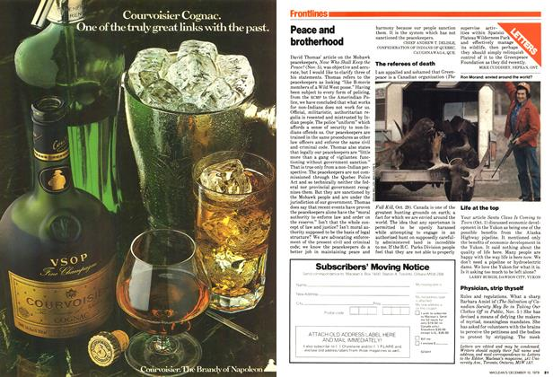 Article Preview: Peace and brotherhood, December 1979 | Maclean's