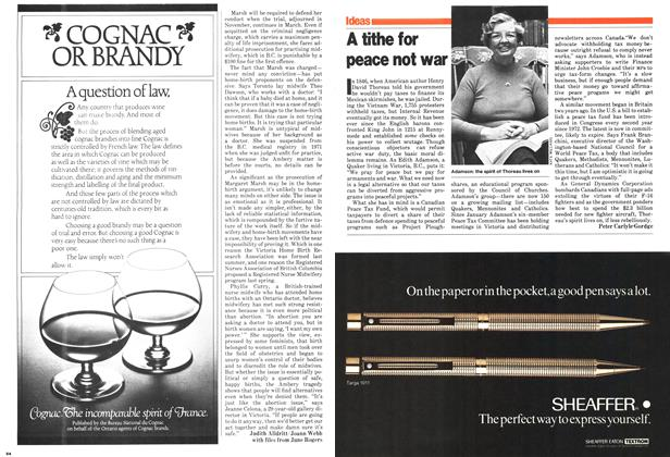Article Preview: A tithe for peace not war, December 1979 | Maclean's