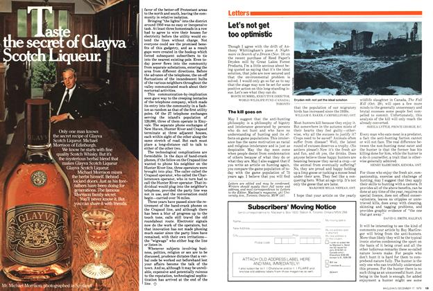 Article Preview: Let's not get too optimistic, December 1979 | Maclean's