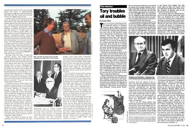 Article Preview: Tory troubles oil and bubble, December 1979 | Maclean's
