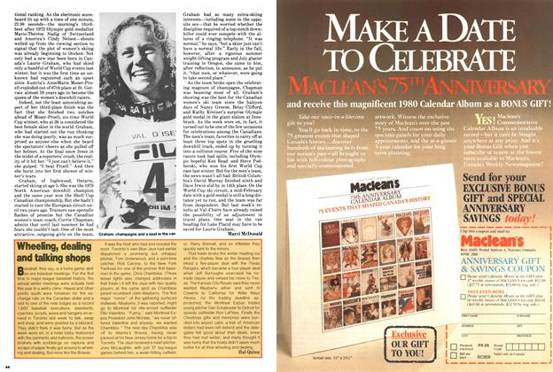 Article Preview: Wheeling, dealing and talking shops, December 1979 | Maclean's