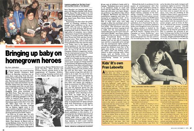 Article Preview: Bringing up baby on homegrown heroes, December 1979 | Maclean's