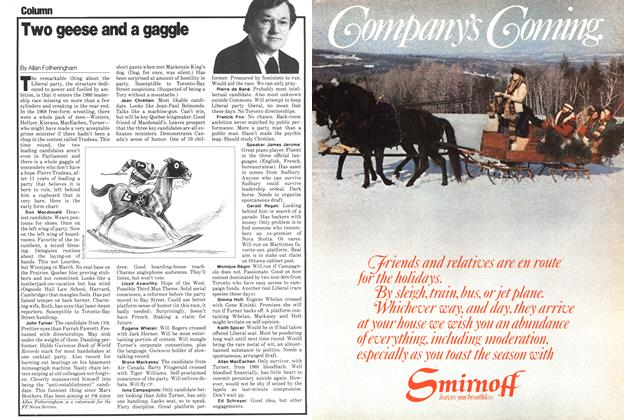 Article Preview: Two geese and a gaggle, December 1979 | Maclean's