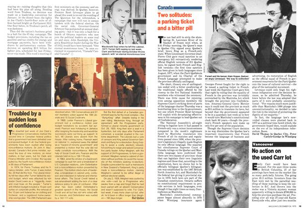 Article Preview: Two solitudes: a parking ticket and a bitter pill, December 1979 | Maclean's