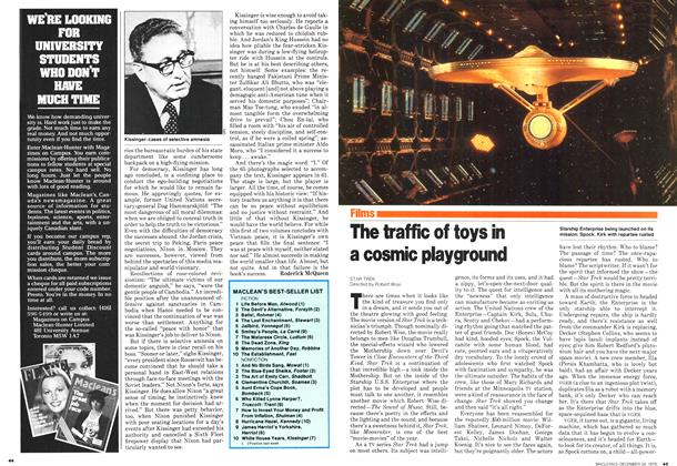 Article Preview: The traffic of toys in a cosmic playground, December 1979 | Maclean's