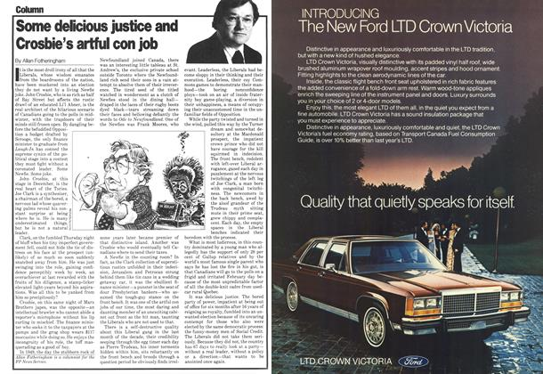 Article Preview: Some delicious justice and Crosbie's artful con job, December 1979 | Maclean's