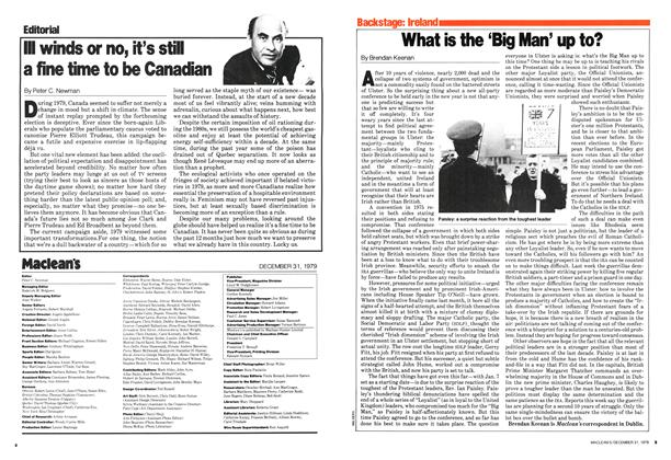 Article Preview: III winds or no, it's still a fine time to be Canadian, December 1979 | Maclean's