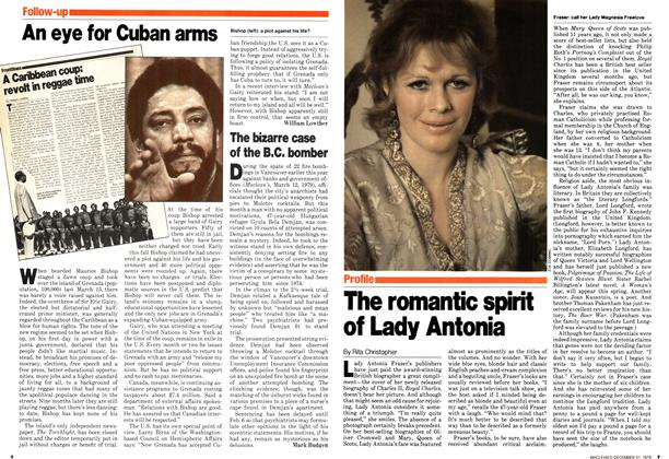 Article Preview: The romantic spirit of Lady Antonia, December 1979 | Maclean's