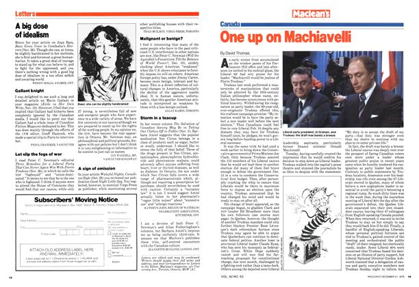 Article Preview: One up on Machiavelli, December 1979 | Maclean's