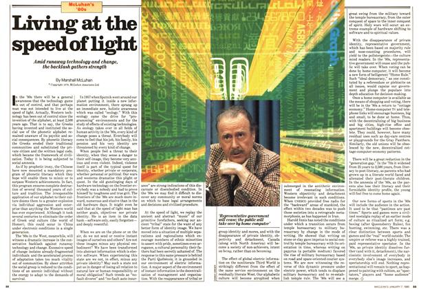 Article Preview: Living at the speed of light, January 1980 | Maclean's