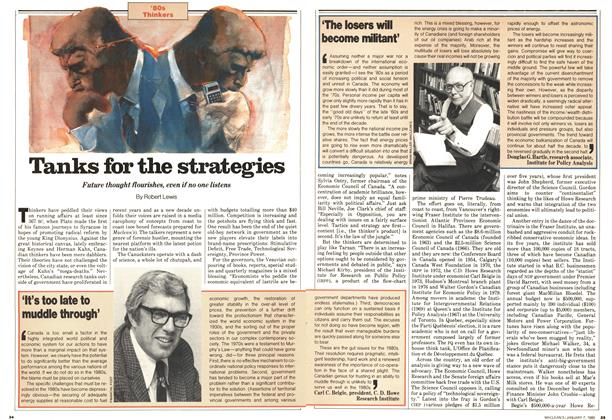 Article Preview: Tanks for the strategies, January 1980 | Maclean's
