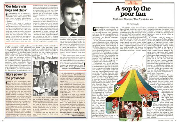 Article Preview: A sop to the poor fan, January 1980 | Maclean's