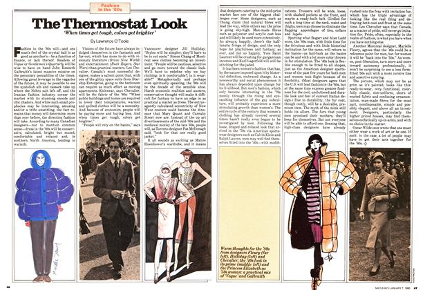 Article Preview: The Thermostat Look, January 1980 | Maclean's