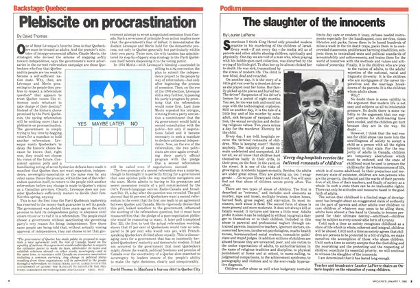 Article Preview: Plebiscite on procrastination, January 1980 | Maclean's