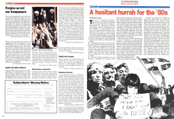 Article Preview: A hesitant hurrah for the '80s, January 1980 | Maclean's