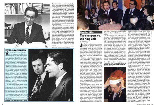 Article Preview: The stumpers vs. Old King Cold, January 1980 | Maclean's