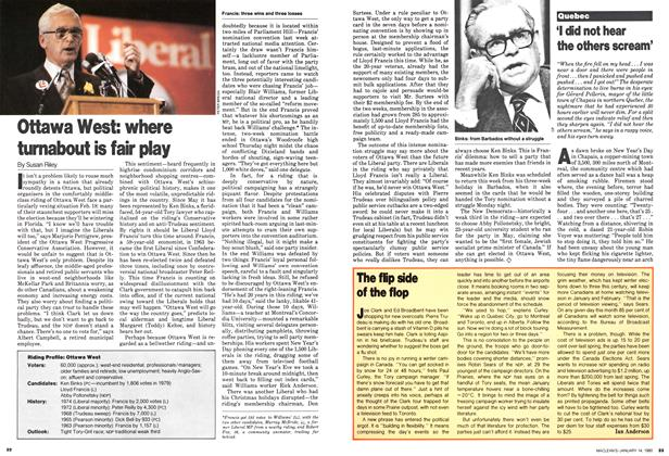 Article Preview: The flip side of the flop, January 1980   Maclean's
