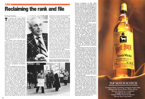 Article Preview: Reclaiming the rank and file, January 1980   Maclean's
