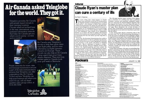 Article Preview: Claude Ryan's master plan can cure a century of ills, January 1980 | Maclean's