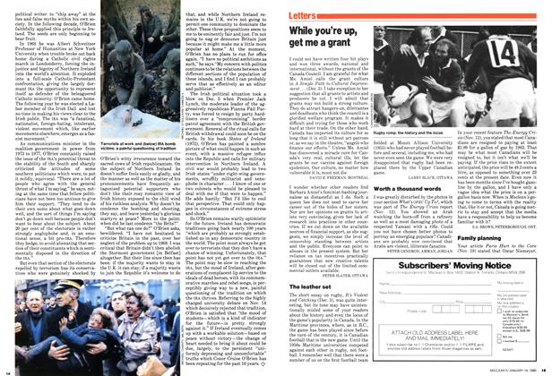 Article Preview: Letters, January 1980   Maclean's