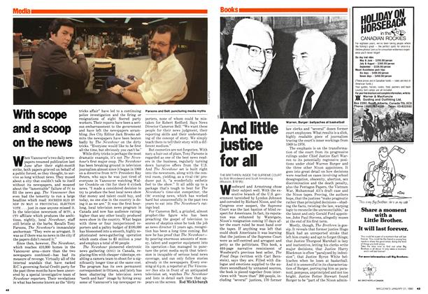 Article Preview: And little justice for all, January 1980 | Maclean's