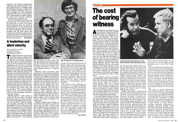 Article Preview: The cost of bearing witness, January 1980 | Maclean's