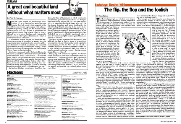 Article Preview: A great and beautiful land without what matters most, January 1980 | Maclean's