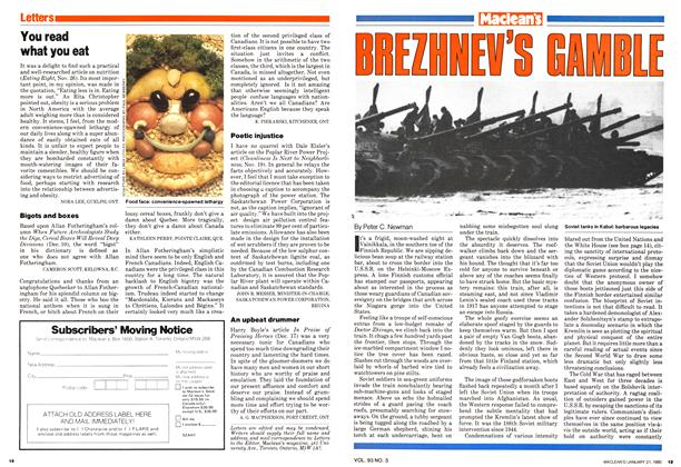 Article Preview: BREZHNEV'S GAMBLE, January 1980 | Maclean's