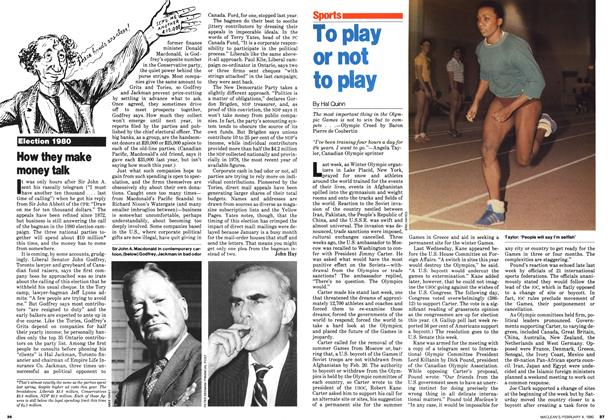 Article Preview: To play or not to play, February 1980 | Maclean's