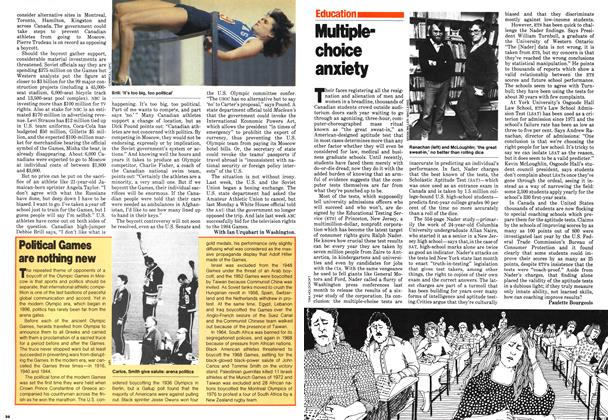 Article Preview: Multiplechoice anxiety, February 1980 | Maclean's